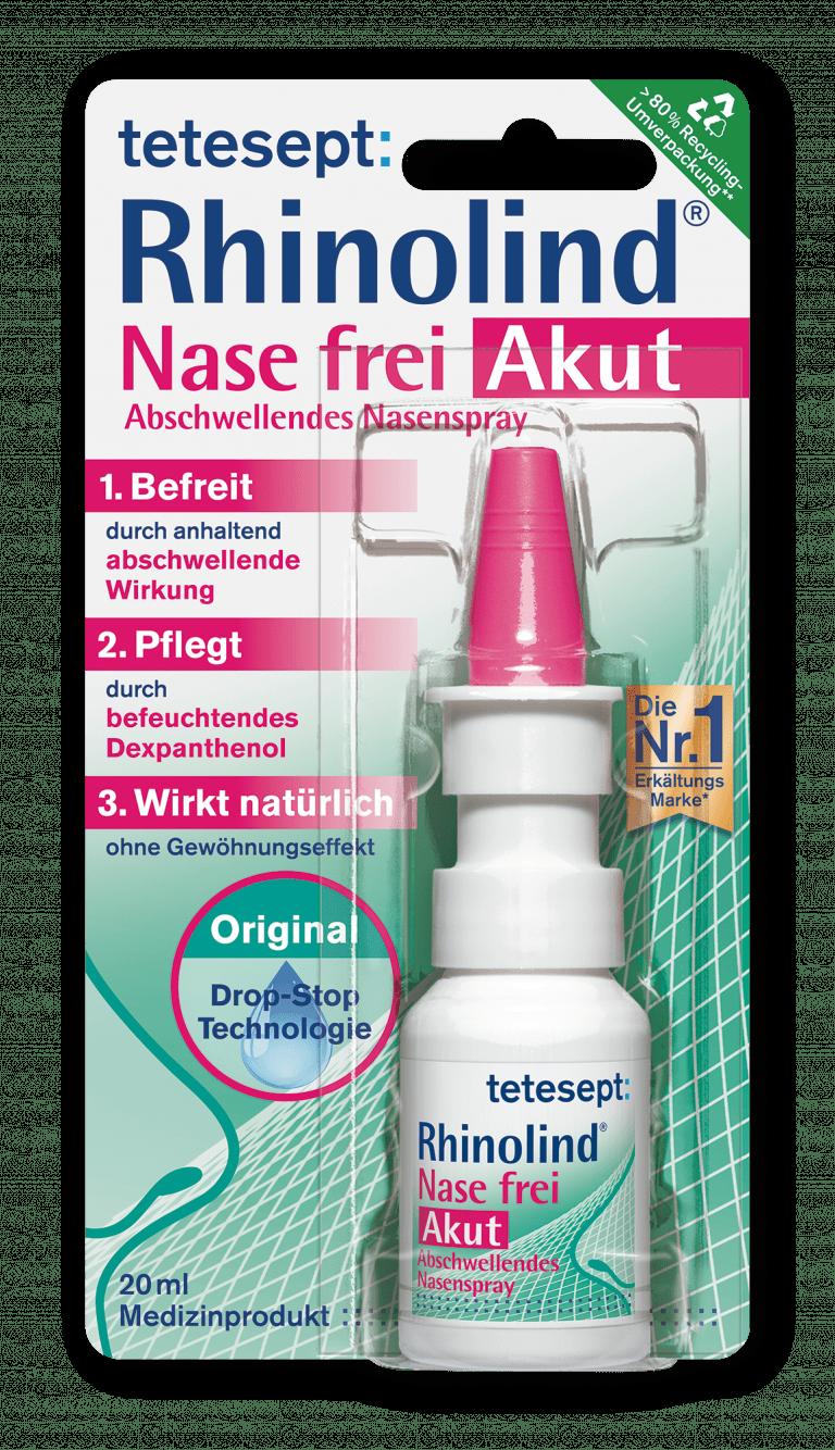 Rhinolind® Nase frei Akut Abschwellendes Nasenspray - tetesept
