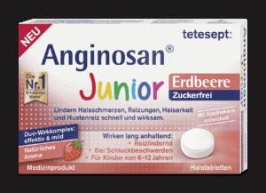 Anginosan Halstabletten Junior Erdbeere zuckerfrei