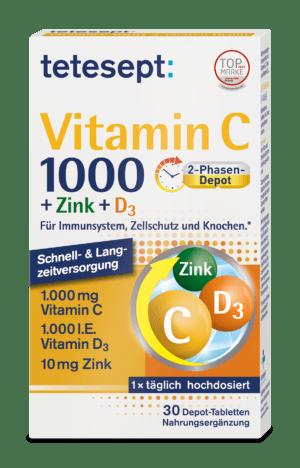 Vitamin C 1000 + Zink + D3
